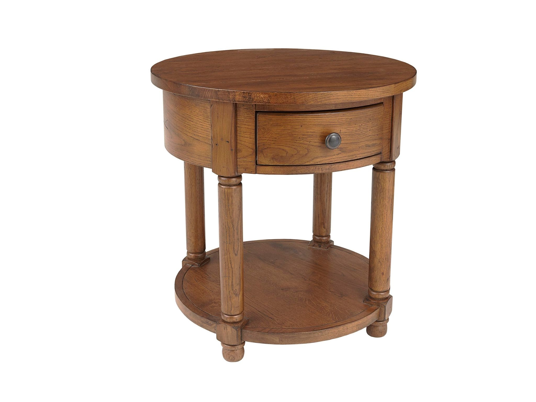 Broyhill Living Room Attic Heirlooms Round End Table