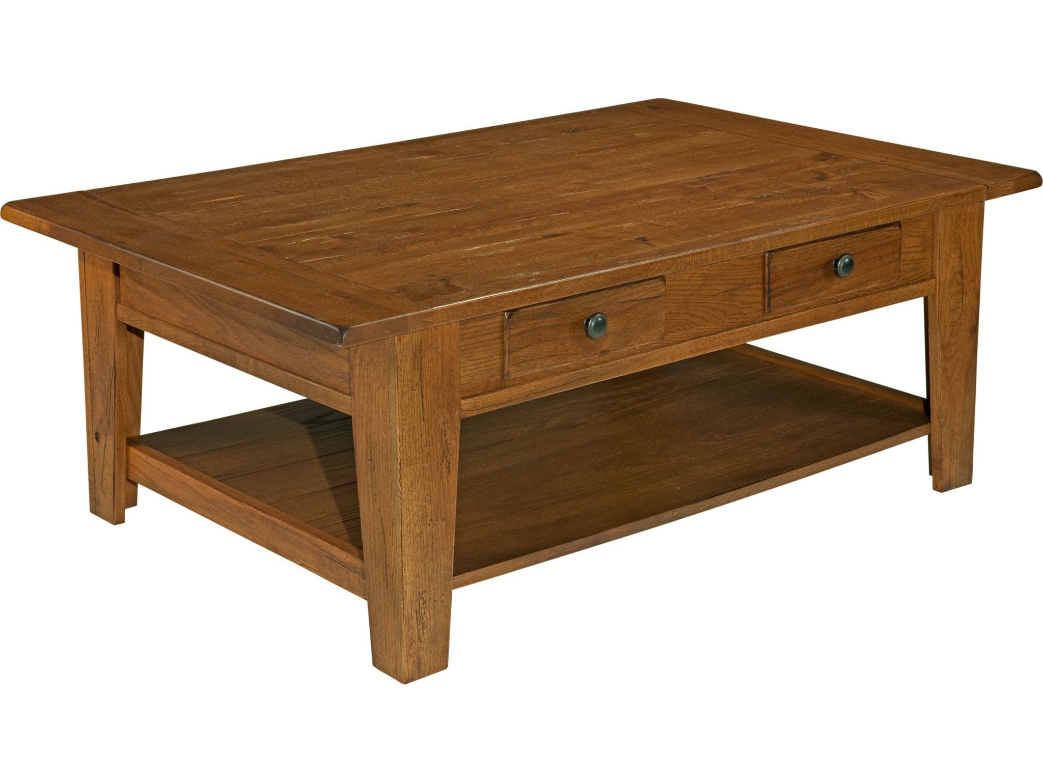 Broyhill Attic Heirlooms Cocktail Table, Rustic Oak 3399 01V