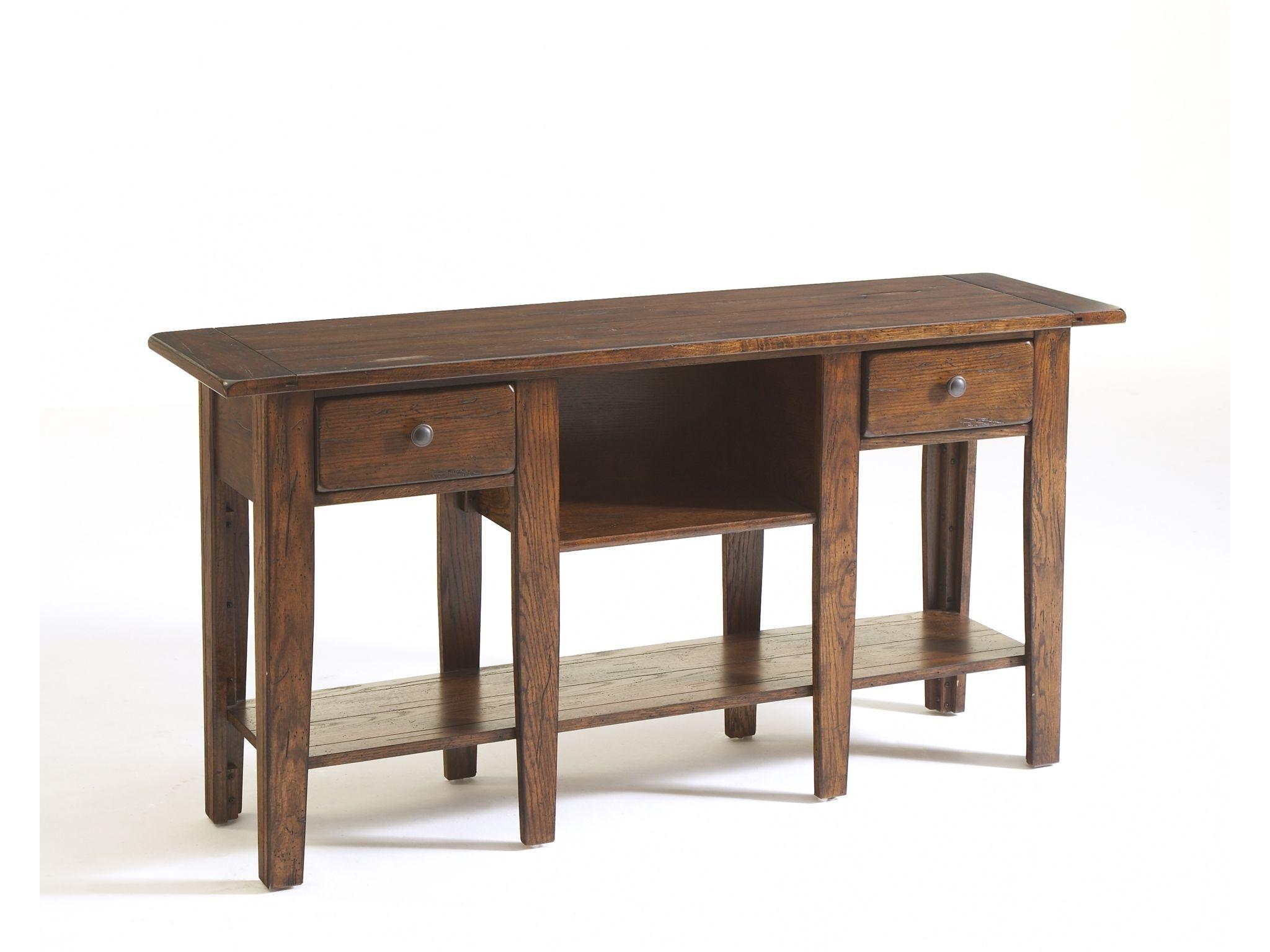 Broyhill Attic Heirlooms Sofa Table Rustic Oak 3399-09V  sc 1 st  Smokey Mountain Furniture & Broyhill Living Room Attic Heirlooms Sofa Table Rustic Oak 3399-09V ...