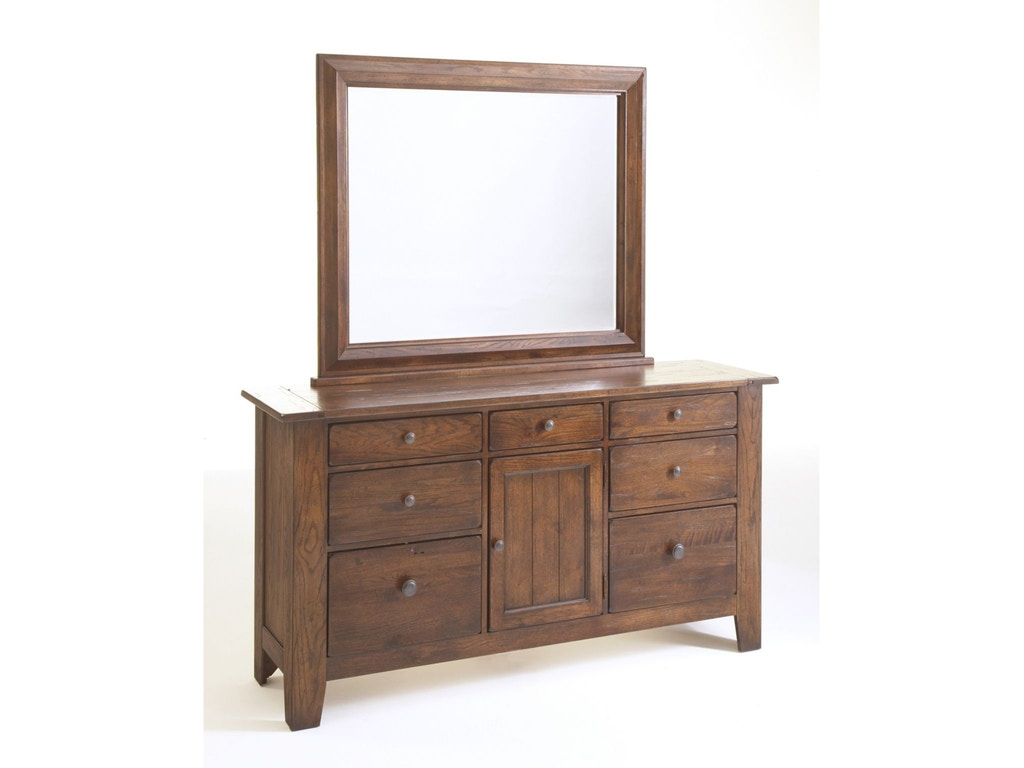Broyhill Bedroom Attic Heirlooms Door Dresser Rustic Oak