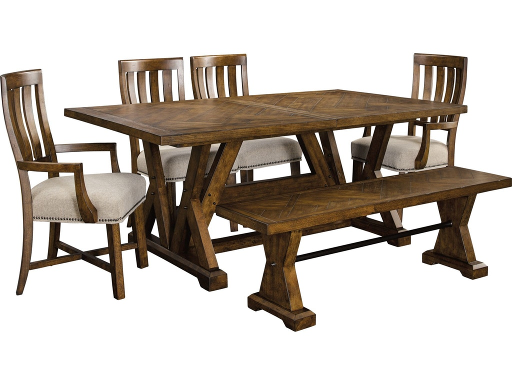Broyhill dining room pieceworks rectangular dining table for Dining room johnson city tn