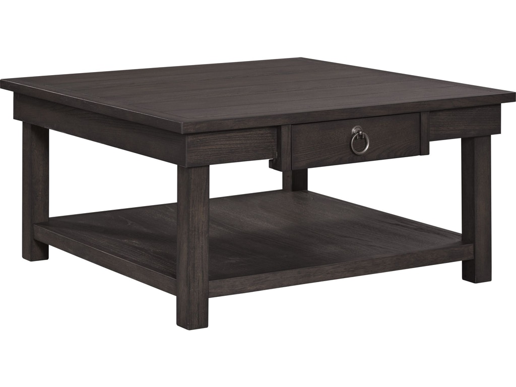 Broyhill Living Room Ashgrove Square Cocktail Table Nutmeg 4547 013nut Simply Discount