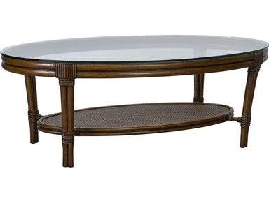 Broyhill Living Room Amalie Bay Oval Cocktail Table 4548