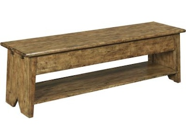 Broyhill New Vintage™ School House Wood Back Bench, Vintage Brown 4808-595