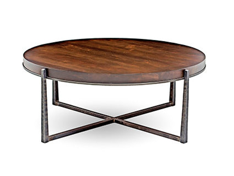 Charleston forge cooper round cocktail table 6025 for Charleston forge furniture