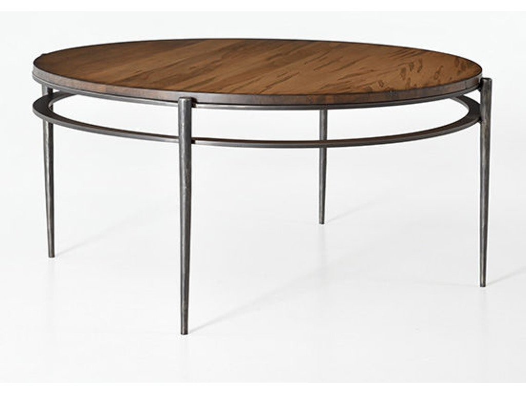 Camden round cocktail table 6052 for Charleston forge furniture