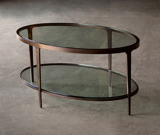 Great Charleston Forge Ellipse Cocktail Table 6104