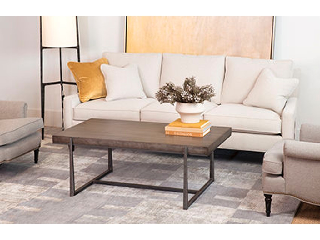 Cooper rectangular cocktail table ch6124 for Walter e smithe living room furniture