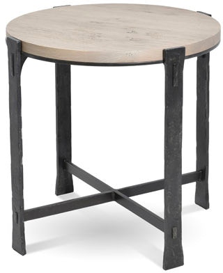 Charleston Forge Living Room Woodland Round End Table 6273 Paul