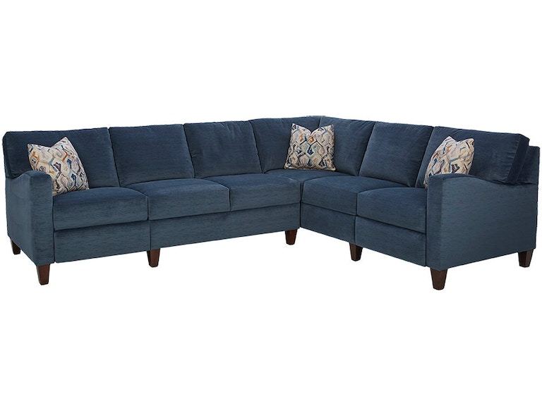 Stupendous Klaussner Living Room Colleen Sectional 19303 Sectional Bralicious Painted Fabric Chair Ideas Braliciousco