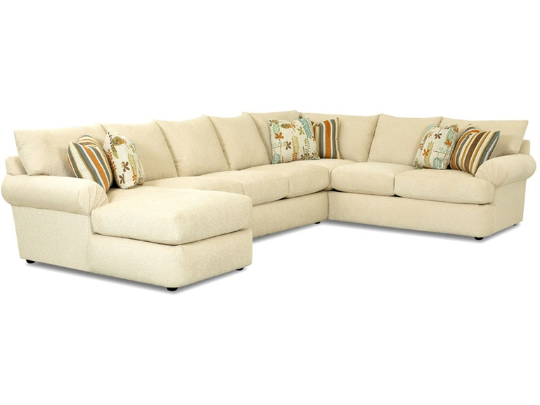 Klaussner Living Room Samantha 36840 Fab Sect Klaussner
