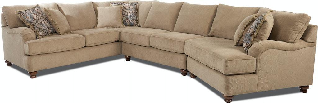 Klaussner Living Room Declan K42200f Sect Sofas