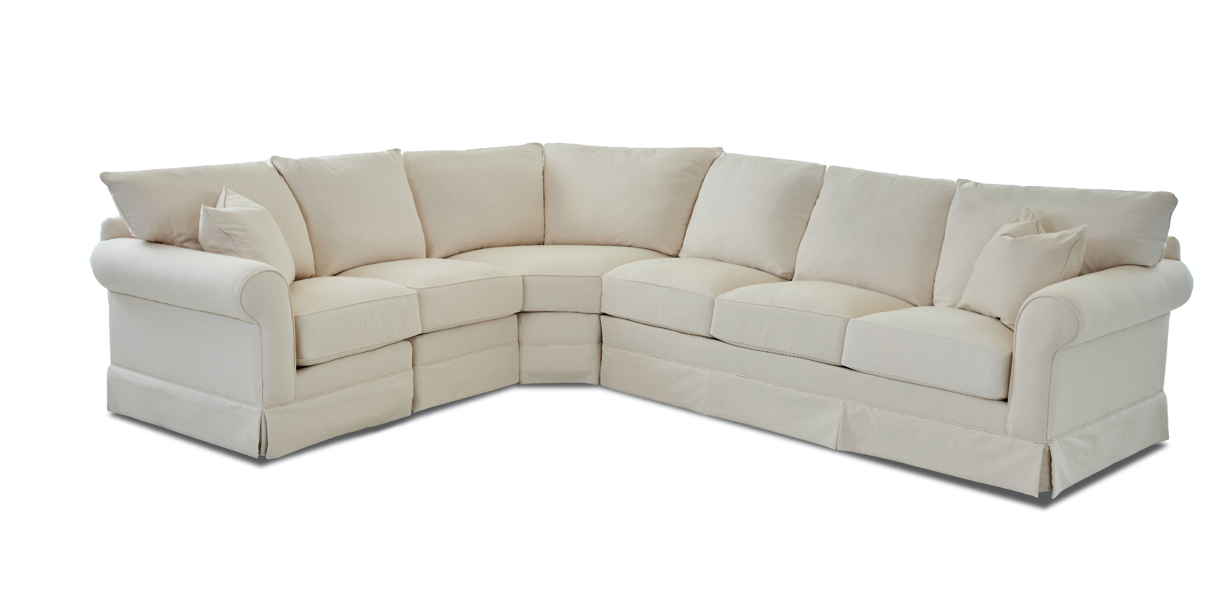 Klaussner Living Room Jenny Sectional D16700 Sect Hamilton Sofa
