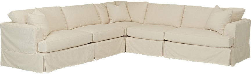Klaussner Living Room Bentley Slipcover D FAB SECT