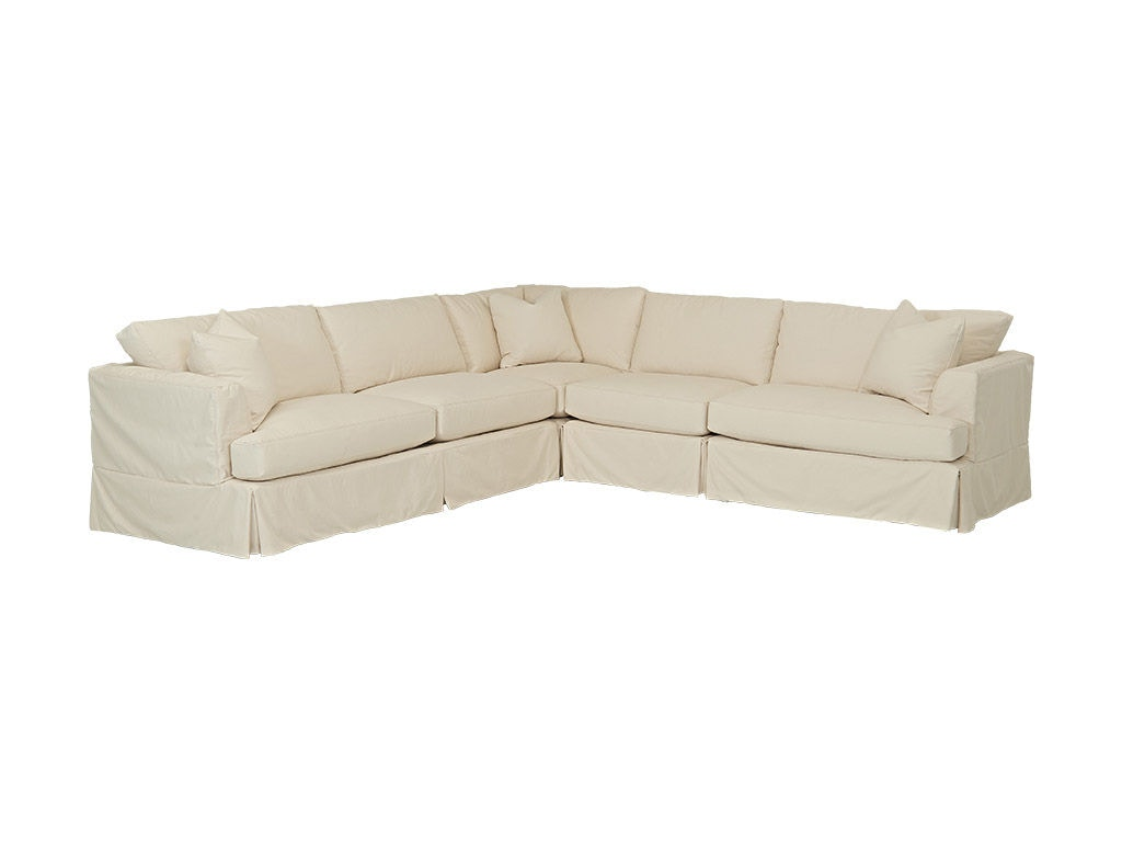 Klaussner Bentley Slipcover D92100 Fab Sect Sc 1 St Home Furnishings Contemporary Three Piece Sectional Sofa