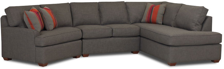 Klaussner Living Room Grady Fabric Sectional K FAB SECT