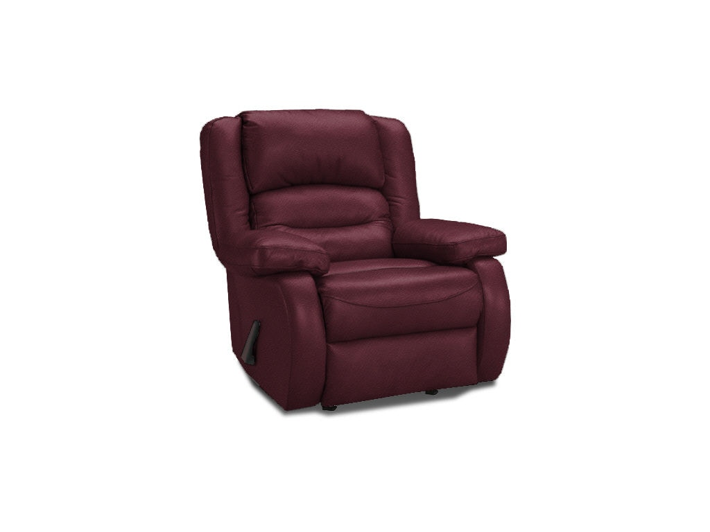 Klaussner Living Room Austin Rocker Recliner With Leather