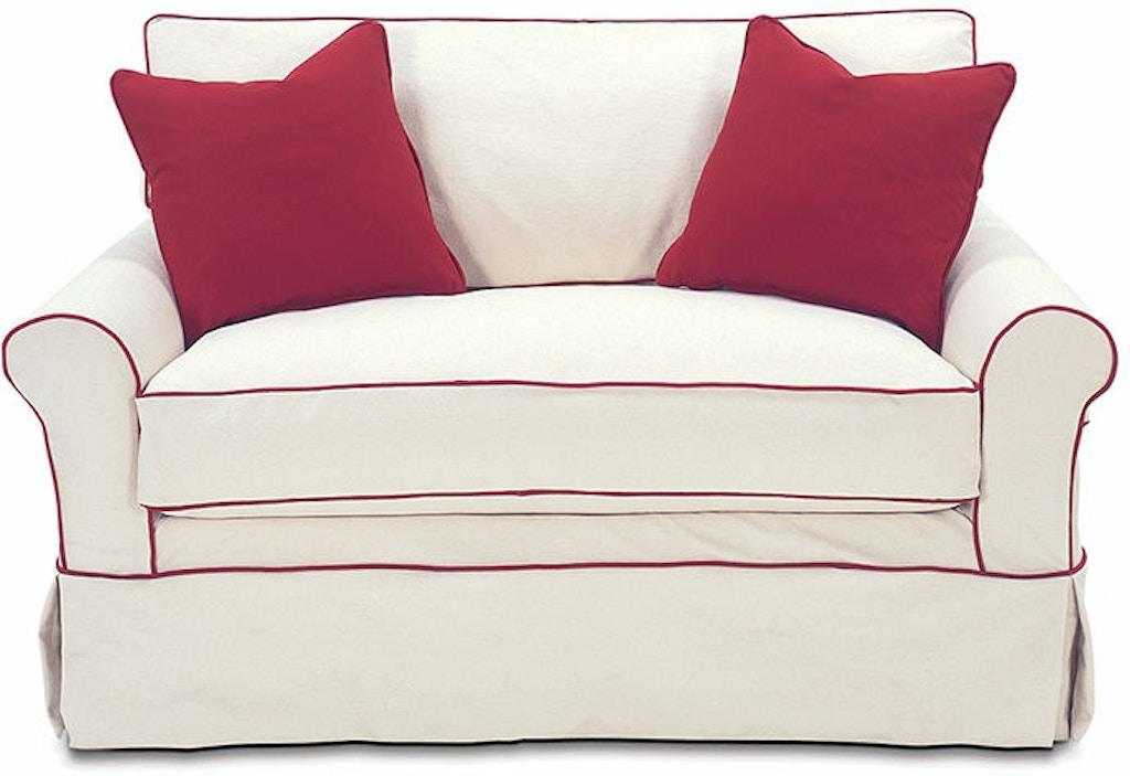 Superb Rowe Living Room Somerset Twin Sleeper W Slipcover 7679T Download Free Architecture Designs Ferenbritishbridgeorg