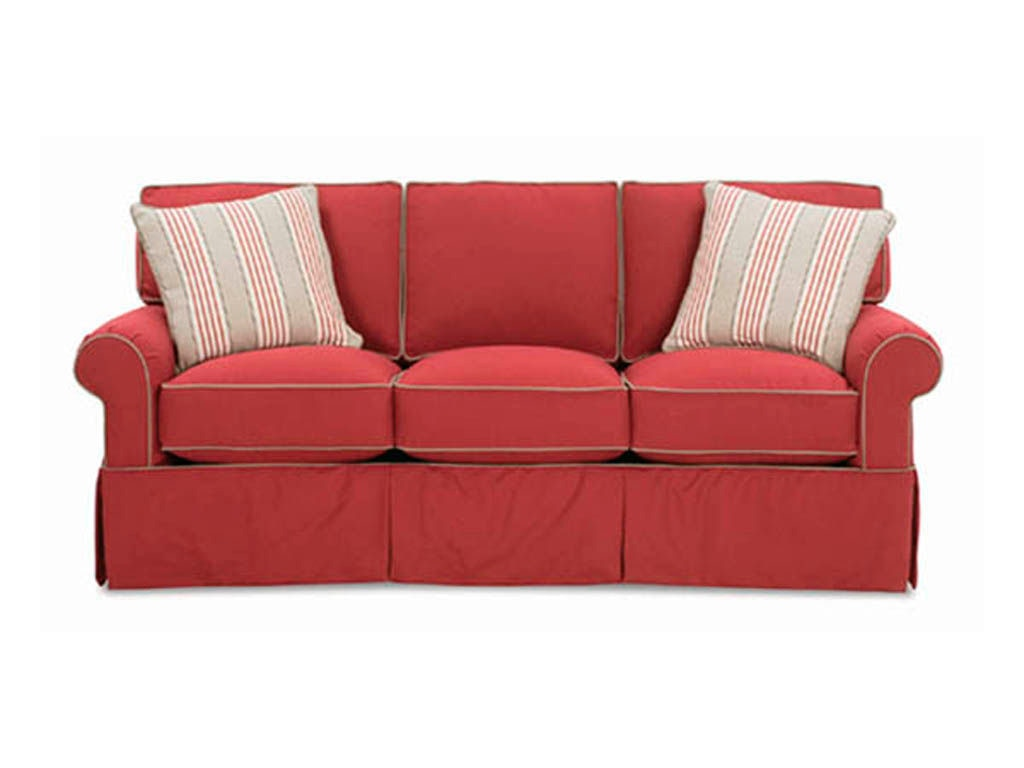 Antique overstuffed chairs - Rowe Living Room Hermitage Three Cushion Sofa 7880 Malouf Furniture