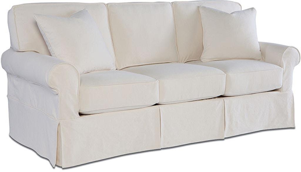 Rowe Living Room Nantucket Three Cushion Queen Sleeper