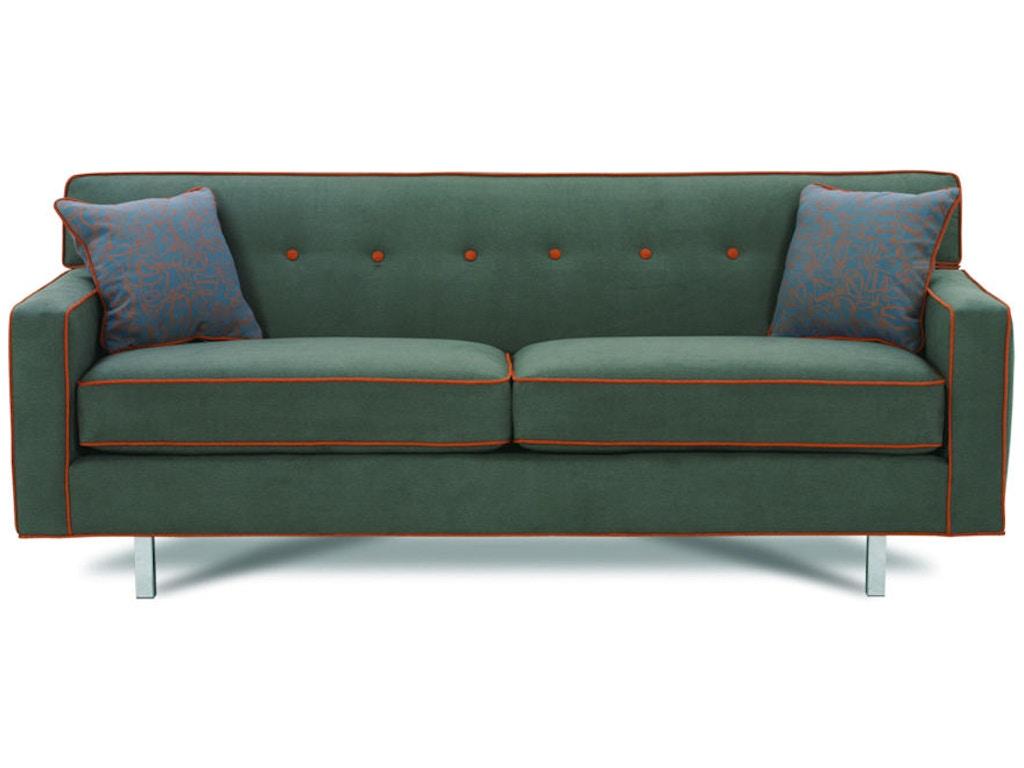 Rowe living room dorset chrome medium sofa k520rc 000 for Furniture 4 less decatur al