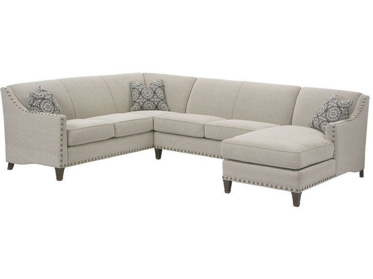 Rowe Living Room Rockford Sectional - Tyndall Furniture ...
