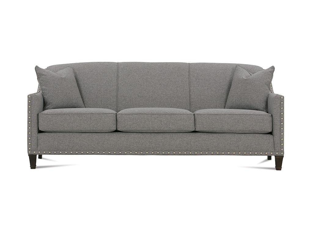 rowe living room rockford sofa with nailhead k580 hickory rh hickoryfurniture com Rowe Abbott Sofa Rowe Rockford Sofa Nailhead Grey
