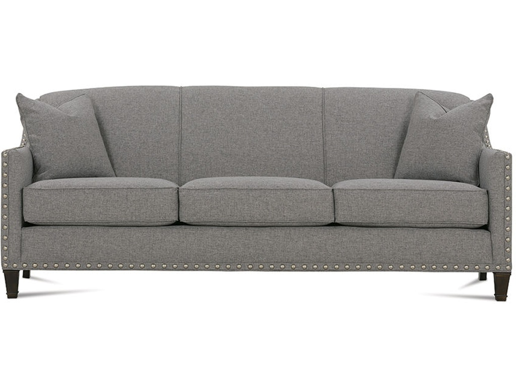 Rowe living room rockford sofa with nailhead k580 for Furniture 4 less decatur al