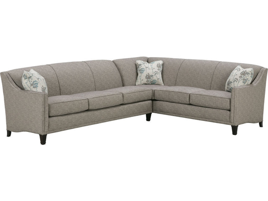 Rowe living room gibson sectional k590 sect shumake for Furniture 4 less decatur al
