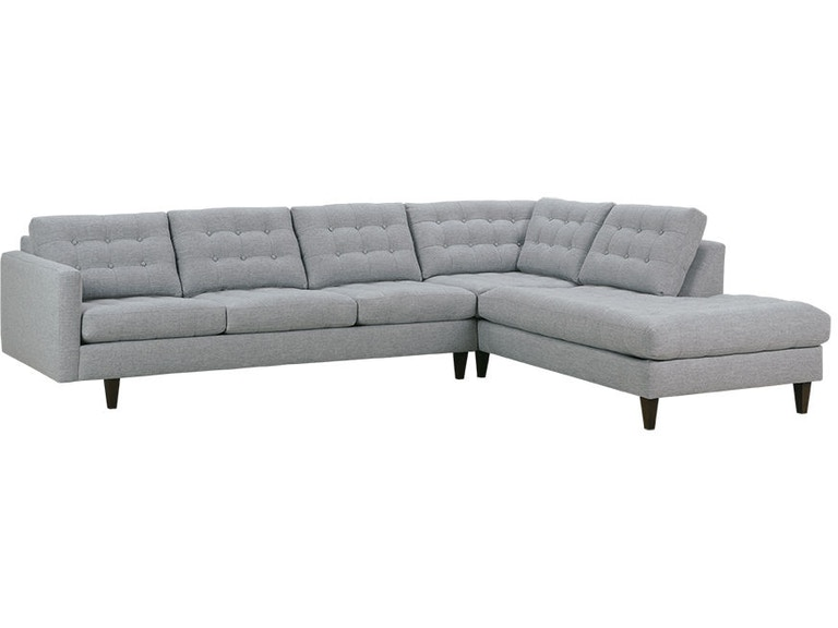 Living Room Rowe Modern Mix Button Back Sectional Md110 C