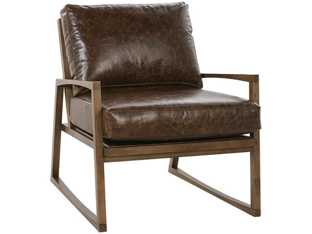 Rowe living room beckett leather accent chair n930 l 006 for Leather accent chairs for living room