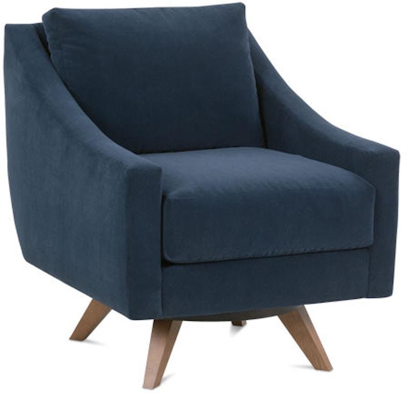 Rowe Living Room Nash Swivel Chair N970-016   Hickory ...