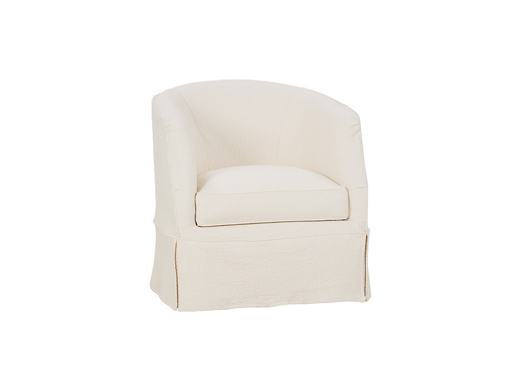 Rowe Living Room Ava Swivel Chair W/Slipcover P155 016 At Warehouse  Showrooms. Barrel Back ...