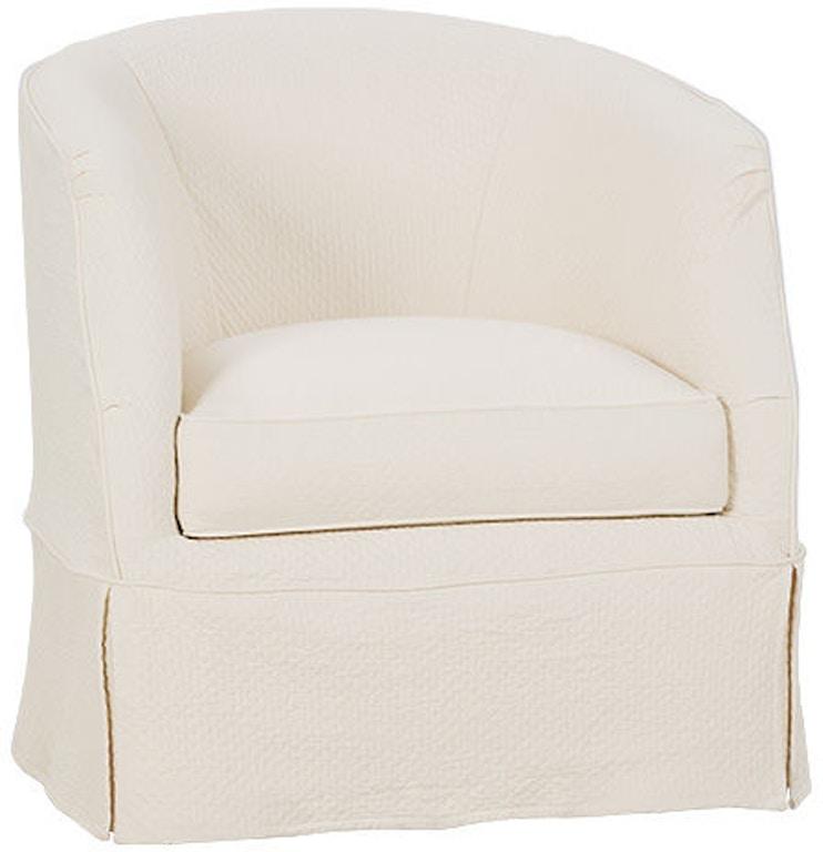 Astounding Rowe Living Room Ava Swivel Chair W Slipcover P155 016 Machost Co Dining Chair Design Ideas Machostcouk