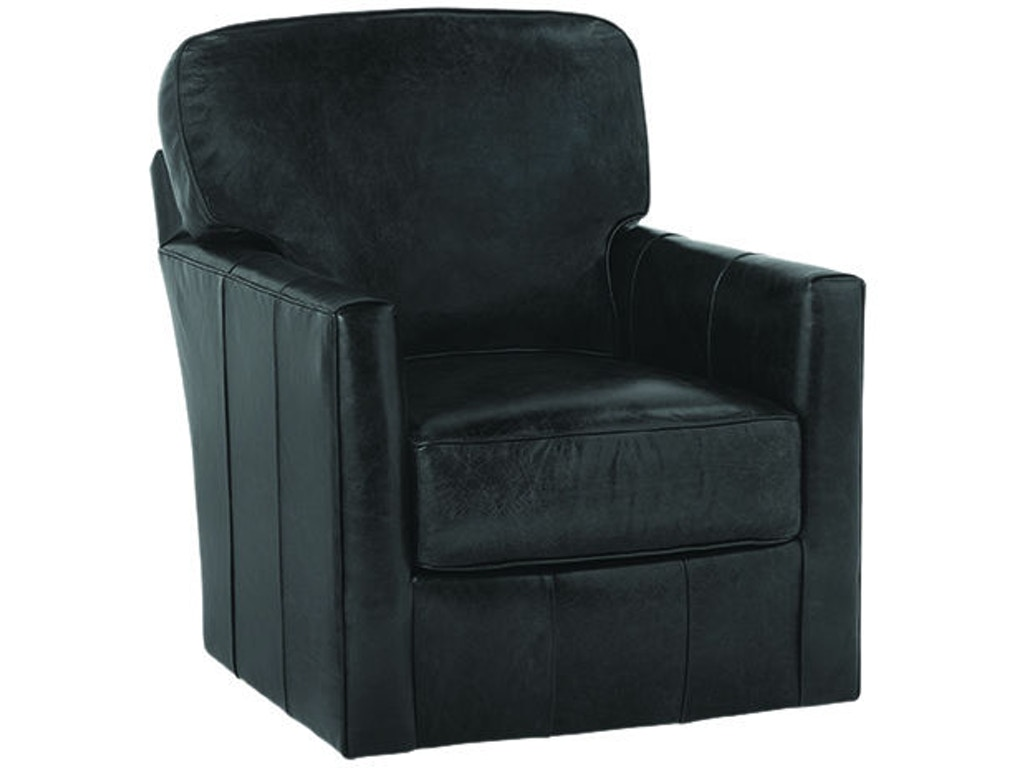 Rowe Living Room Leather Swivel Chair P340-L-016