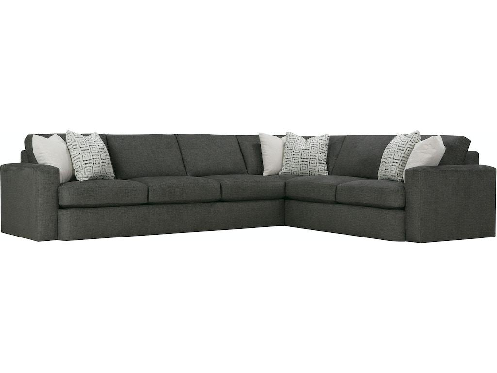 Rowe Living Room Lauren Sectional P350 Sect Tyndall Furniture amp Mattress Charlotte