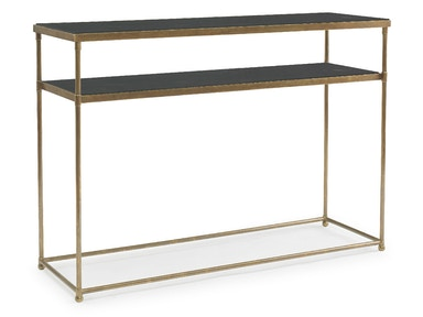 Kravet Brass/Black Mother of Pearl Console Table OT804B/M