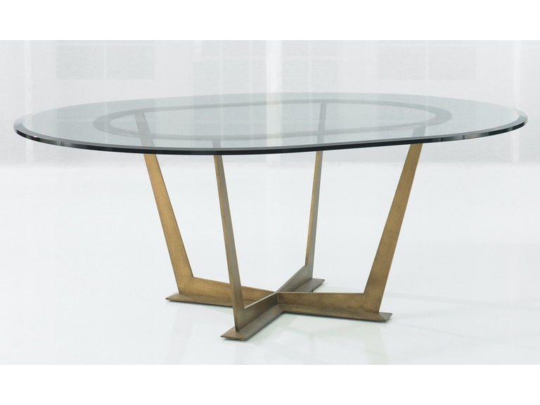Kravet Steel Base Oval Table Wd13 78ovo Gl