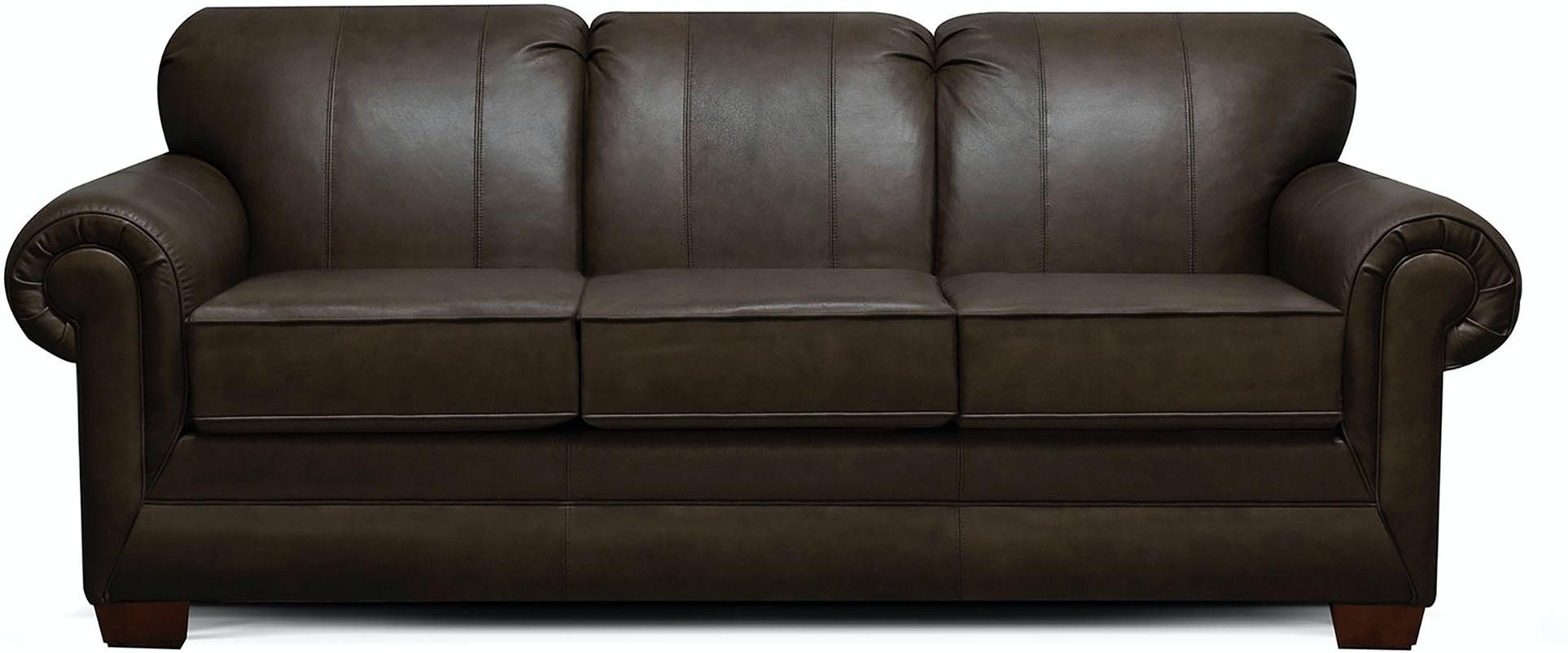 England Living Room Monroe Leather Sofa 1435LSR - Nehligs ...