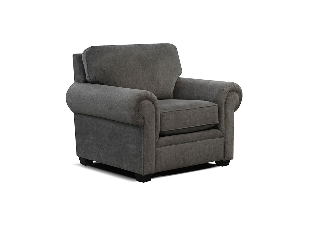 Delightful England Chair (Shown On Store Floor In Solid Brown Tweed Fabric) 2254