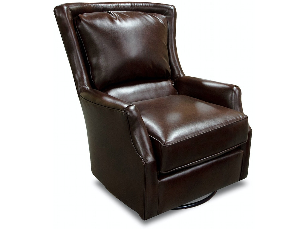 England Living Room Lillian Swivel Chair With Nails