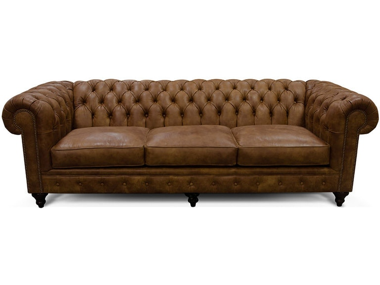 England Living Room Sofa Tufted Back Leather Lucy 2r05al Naturwood