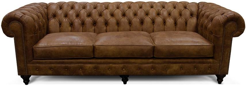 England Living Room Sofa Tufted Back Leather Lucy 2r05al Naturwood