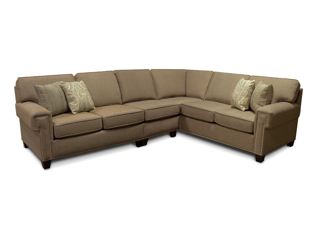 England Living Room Yonts Sectional with Nails 2Y00N Sect B F Myers Furniture