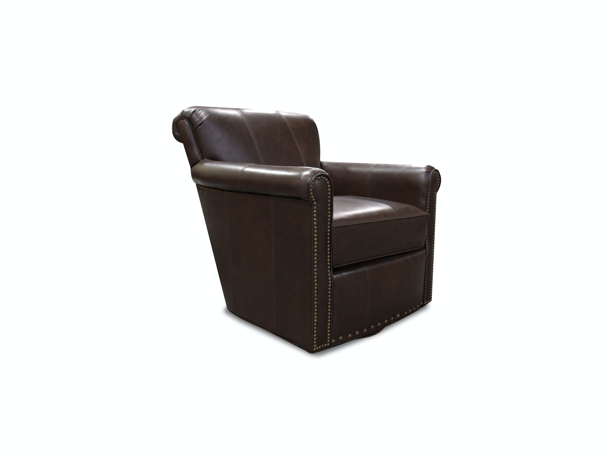 England Living Room Lillian Swivel Chair With Nails 3c69aln