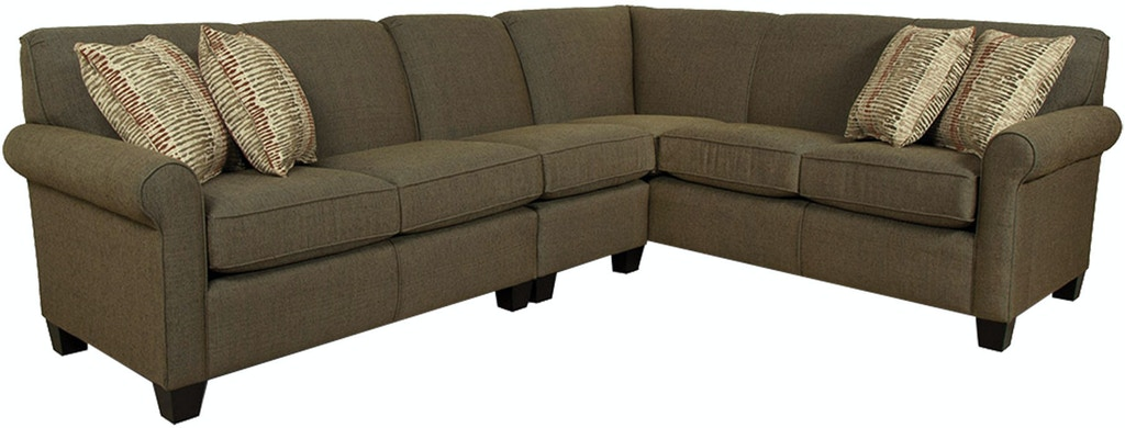 Paisley Fabric Living Room Sectional