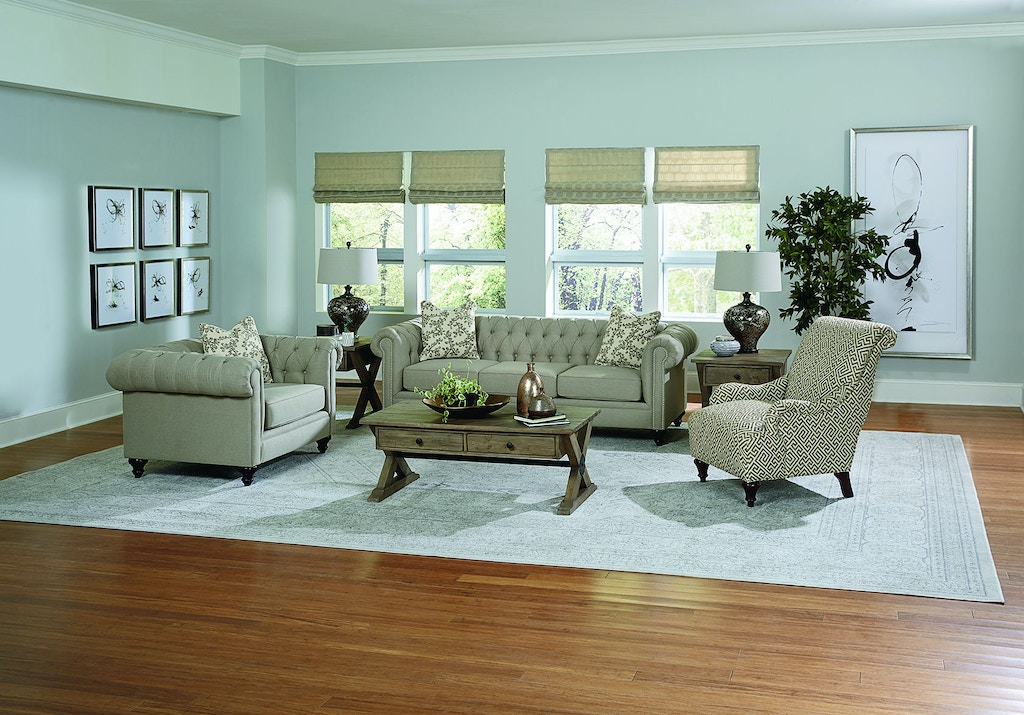 England Living Room Brooks Sofa With Nails 4h05n Z Amp R