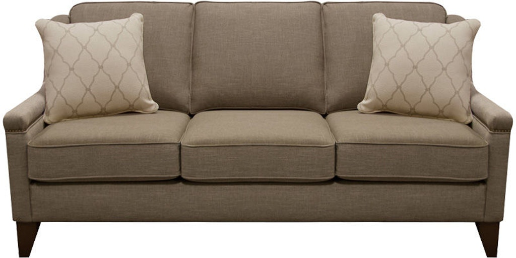 England Living Room Kendra Sofa With Nails 5k05n England Furniture New Tazewell Tn