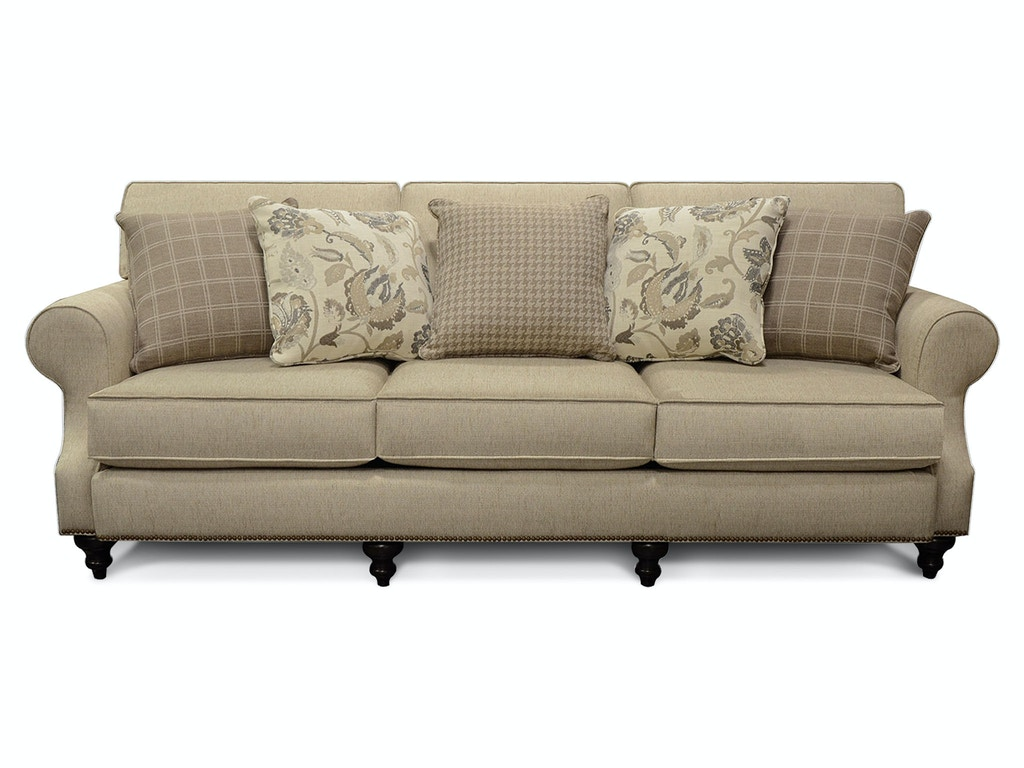 England Living Room Layla Sofa With Nails 5m05n England