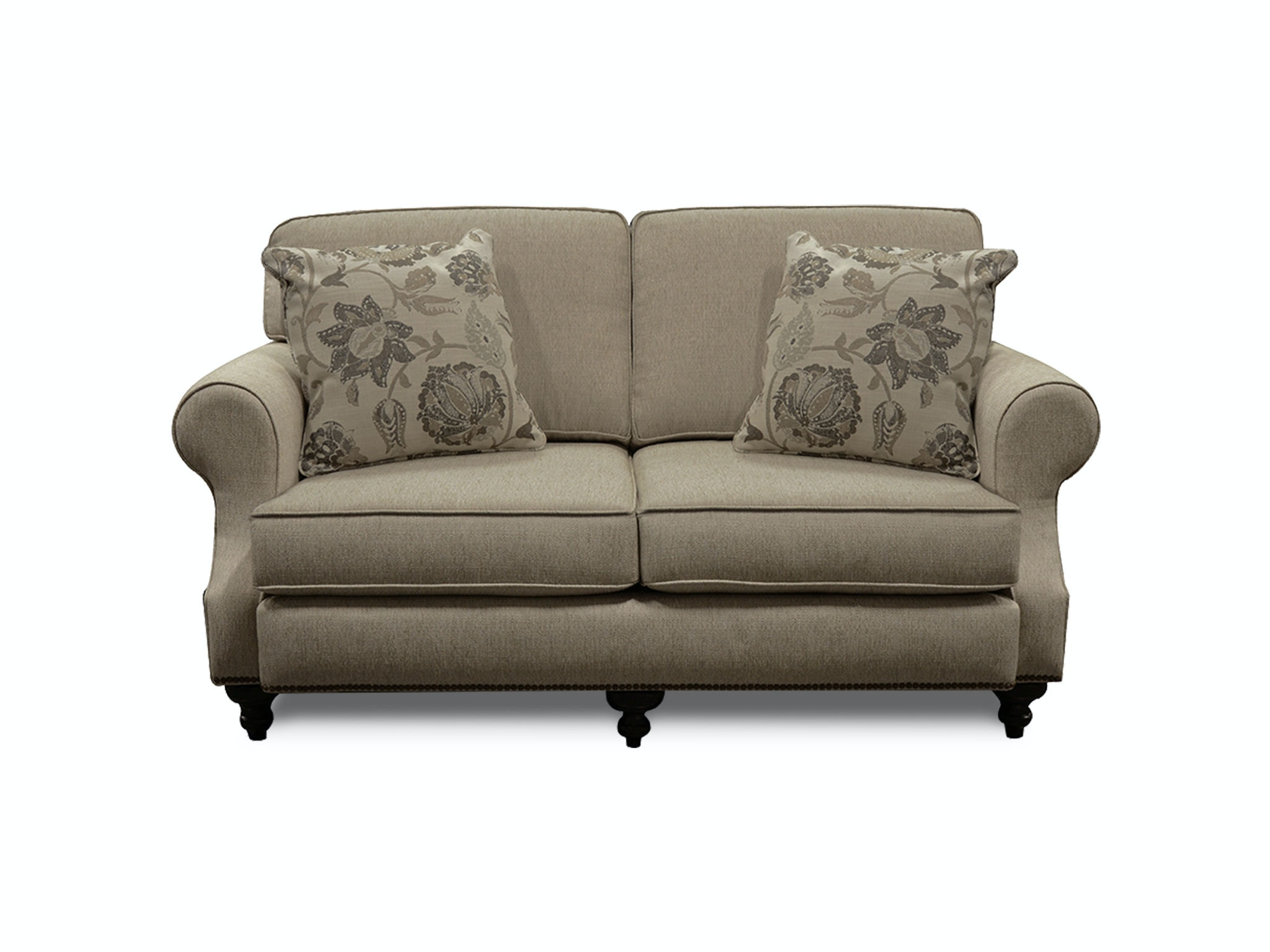 England Living Room Layla Loveseat With Nails 5m06n England
